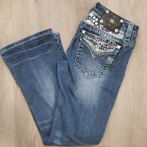 MISS ME Signature Rise Bootcut Jeans 29